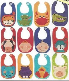 Baby Bibs 2 applique quilt pattern by Little Quilt Company