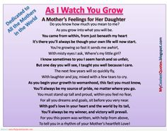 Mother's love for her daughter when she was growing up - Mother quotes   My Quotes Garden - Quotes About Life
