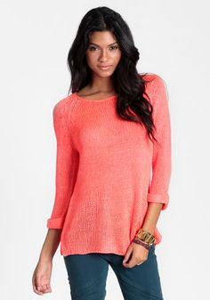 Neon Apocalypse Sweater. Coral sweater.