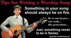 Worship song writing.