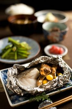"collectorandco: "" steamed cod w/ matsuke """
