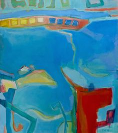 Grand Harbour by Trudy Montgomery, 2015, oil on canvas, 170 x 150 cm.