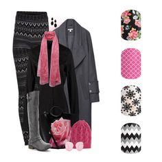 Fall Winter Fashion Pretty in Pink Love Legging, Boots, and Purse with the Rose Floral & Chevron. Perfect Pop of Color! 2015 Jamberry DIY Nail Art Sweet Nothing Rosy Quatrefoil Silent Snow Disoriented