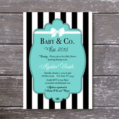 Tiffany & Co. Baby Shower Invitation Baby and by PartyPrincipessa
