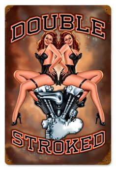 Vintage and Retro Wall Decor - JackandFriends.com - Vintage Double Stroked - Pin-Up Girl Metal Sign, $39.97 (http://www.jackandfriends.com/vintage-double-stroked-pin-up-girl-metal-sign/)