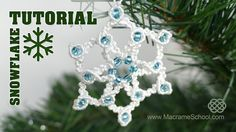 Knotted Snowflake Tutorial #Knotted #Snowflake #Tutorial