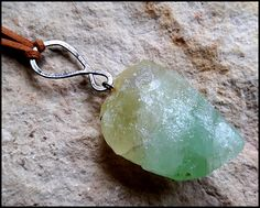 Natural Green Calcite Necklace, Symbol of prosperity, Wiccan Necklace, Natural Green Calcite  pendant,  Natural Stone Necklace, by WitchTools on Etsy