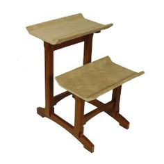 Herzher's Feline Furnitue Double Seat, Early American Finish - I Heart My Cats Cat Perch, Wooden Cat, Cat Condo, Pet Furniture, Early American, Wood Construction, Joss And Main, Pet Accessories, Home Decor