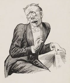 George Grossmith; pen and ink drawing by Harry Furniss.