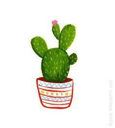 ♡ this :) Julia Bereciartu - Cactus Kaktus Illustration, Illustration Tumblr, Watercolor Illustration, Illustrations, Cactus Drawing, Cactus Art, Cactus Flower, Cactus Painting, Cactus Decor