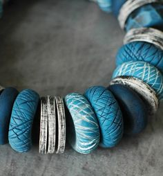 Gorgeous DIY polymer beads! The possibilities are endless.....