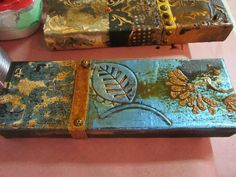 Fun with foils and patina.  www.FauxRetreat.com  5 day painting adventures.