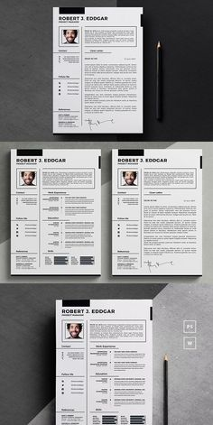 Word Resume Template. Stationery Templates