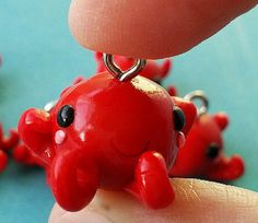 cute octopus polymer charm