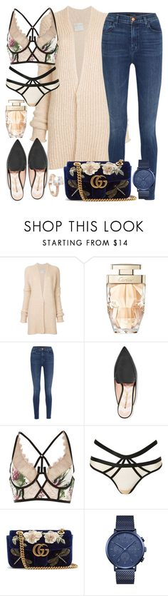 """Who said comfy can't be sexy?"" by caroldahlem ❤ liked on Polyvore featuring Forte Forte, Cartier, J Brand, Nicholas Kirkwood, River Island, Topshop, Gucci, Rebecca Minkoff, Saks Fifth Avenue and Sexy"