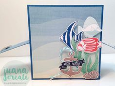 Juana Ambida | Seaside Shore card in a box | #GDP047, #CCteamprojecthighlights, #Seasideshore,…