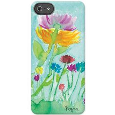 Floral Watercolor iPhone 5/5s By Regan  SKU :452014 Price : $35.00 Overview i5 Deflector