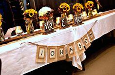 Cute rustic bridal table