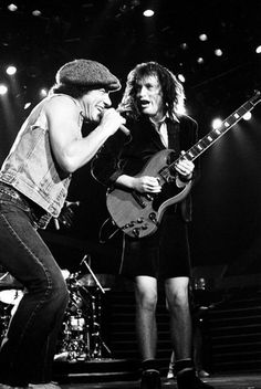 AC/DC Performing in London. 1988
