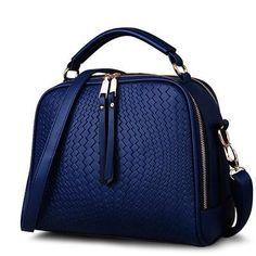 Shoulder Bags Spring Weave Tassel PU Leather Ladies Casual Handbags