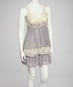 Take a look at this Gray Tiered Dress by Jazzy Martini on #zulily today!