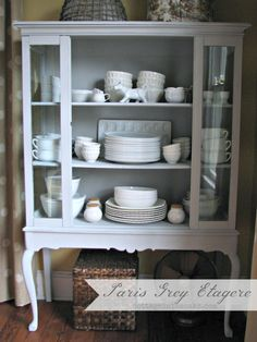 paris grey etagere #diy