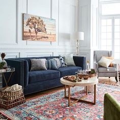 The mixy-matchy trend is having its heydayand were so here for it! 2019 The mixy-matchy trend is having its heydayand were so here for it! The post The mixy-matchy trend is having its heydayand were so here for it! 2019 appeared first on Sofa ideas. Blue Couch Living Room, Living Room Interior, Rugs In Living Room, Interior Livingroom, Living Room Ideas Navy Sofa, Red Persian Rug Living Room, Living Room Color Schemes, Living Room Designs, Living Room Inspiration