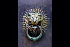 King Of The Door! Lions are majestic beasts and have forever been used as symbols of power, strength, and courage. To this day, lion head door knockers are as common throughout Europe as the door bell. Front Door Curb Appeal Outdoors  Designer Fashion Decor Trend Alert hgtv.ca