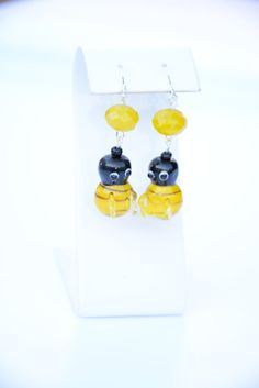 Bumble Bee Earrings. Yellow Earrings.Black Earrings.Woodland Jewelry.Insect Jewelry.Bug Jewelry.Women's Jewelry.Women's Earrings by flashinfashinjewelry. Explore more products on http://flashinfashinjewelry.etsy.com
