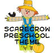 Scarecrows Theme for Preschool.  Scarecrows aren't scary. Learning about scarecrows is a fun way to introduce the theme content of autumn and harvest time.