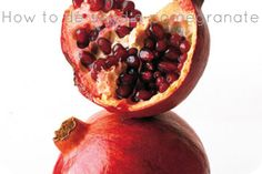 How to de-seed a pomegranate by simply whacking it with a spoon. Who knew? Plus many more kitchen tips!!!