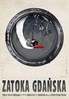 Zatoka Gdańska, plakat z serii Polska, R. Kaja