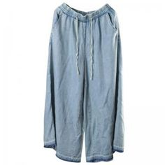Buy Light Blue Plus Size Wide Leg Jeans Soft Cotton Maxi Frayed Jeans in Jeans online shop, Morimiss offers Jeans to make you feel comfortable Plus Size Dresses, Plus Size Outfits, Addition Elle, Hippie Dresses, Wide Leg Jeans, Flare Skirt, Plus Size Women, Personal Style, Cotton