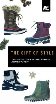 These SOREL boots were made for walking, and that's just what they'll do. Whether in rain, sleet or snow, SOREL's boots stand up to the elements. Shop this season's stylish weather resistant boots and keep your feet warm, dry and comfortable.