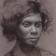 Davan Kassan -quick shot of my Scottdale artist school demo drawing, charcoal on toned paper.