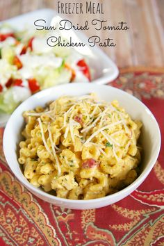 {Freezer Meal} Sun Dried Tomato Chicken Pasta #slowcooker