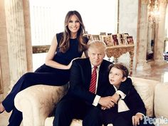 22 Things You Never Knew About Donald Trump's Kids Here is his third wife and third family. His wife Melania, has posed nude, and half his age. You really want a first Lady that posed Nude???