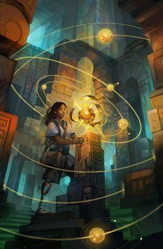 Amazingly-beautiful, inclusive sci-fi/fantasy illustrations by Julie Dillon. Ancient Discoveries, Treasure Planet, Wow Art, Fantasy Illustration, Art Illustrations, Character Illustration, Sci Fi Art, Beautiful Artwork, Art World