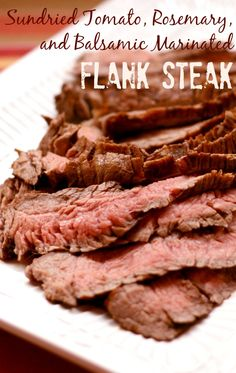 Sundried Tomato, Rosemary, and Balsamic Marinated Flank Steak | cupcakesandkalechips.com | #grill #grilling #beef #glutenfree