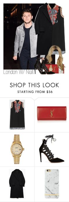 """""""Niall"""" by idaln ❤ liked on Polyvore featuring Gucci, Yves Saint Laurent, Rolex, Aquazzura, Hachung Lee, Richmond & Finch, OneDirection, NiallHoran and onedirectionoutfits"""