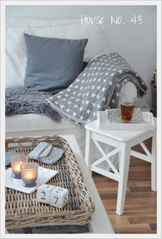 grey and white living room idea Winter Living Room, Cozy Living, Home Living Room, Interior Exterior, Interior Design, Home And Deco, Decoration, Room Inspiration, Dreams