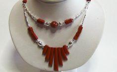 Native American Navajo Plated Silver Red Jasper Double Strand Necklace   http://cgi.ebay.com/ws/eBayISAPI.dll?ViewItem&item=281266728700&ssPageName=STRK:MESE:IT