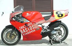 CAGIVA 500 run by the official Cagiva Bastos team in the 1987 world championship