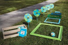 Earth Ball Toss Game