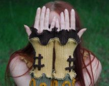 SALE Recycled wool fabric mittens Fingerless gloves Arm warmers Armwarmers Arm…