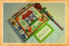 """Hand bound book - Bookbinding - Encadernação artesanal -Estúdio Brigit: Livro da Receitas """"Casa de Fazenda"""" (Cookbook """"Far..."""