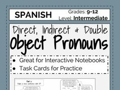 Looking to practice with object pronouns with your students?  Check out these task cards!