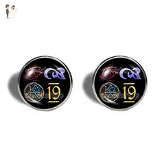 The Dark Tower KA Symbol Cufflinks Cuff links Fashion Jewelry Cosplay Cute Gift For Mens Number 19 Nineteen - Groom cufflinks and tie clips (*Amazon Partner-Link)