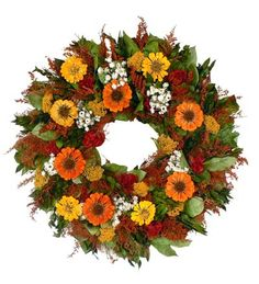 Top 10 Fall Wreaths To Zinnia Harvest Wreath