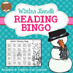Winter Break Reading Bingo A fun way to keep your students reading over the Christmas Holiday or Winter Break!Your satisfaction is my TOP priority! If you have any questions, please contact me. Reading Bingo, Student Reading, Classroom Freebies, Classroom Activities, Classroom Ideas, Broken Drawings, Reading Is Thinking, Parent Resources, Reading Challenge